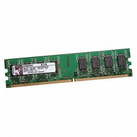 2Go RAM Kingston KVR667D2N5K2/2G 240-Pin DIMM DDR2 PC2-5300U 667Mhz 1.8v CL5