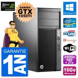 PC HP Z230 Gaming GTX 1050Ti intel i5-4570 RAM 16Go 240Go SSD + 2To Windows 10