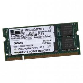 1Go RAM PC Portable PROMOS V916765G24QBFW-F5 PC2-5300U DDR2 667MHz CL5