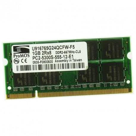 1Go RAM PC Portable PROMOS U916765G24QCFW-F5 PC2-5300U DDR2 667MHz CL5