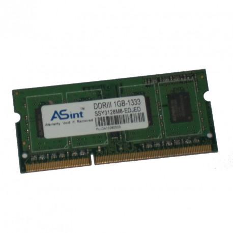 1Go RAM PC Portable SODIMM ASint SSY3128M8-EDJED DDR3 PC3-10600U 1333MHz 1Rx8