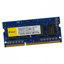 1Go RAM PC Portable SODIMM ELIXIR M2S1G64CBH4B5P-CG DDR3 PC3-10600U 1333MHz CL9