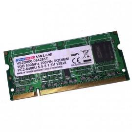 1Go RAM PC Portable DANE-ELEC VS2D800-064285T SODIMM DDR2 PC2-6400U 800MHz CL5
