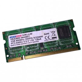 1Go RAM PC Portable DANE-ELEC VS2D800-064285T SODIMM DDR2 PC2-6400U 800MHz CL5