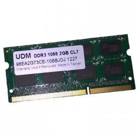 1Go RAM PC Portable UDM 96EA2G73CE-10BBJDJ SODIMM DDR3 PC3-8500U 1066MHz CL7