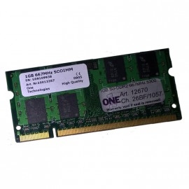 1Go RAM PC Portable One Technologies 26BF-1057 SODIMM DDR2 PC2-5300U 667MHz