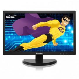 "Ecran PC Pro 22"" LENOVO LT2252PWA LCD VGA DVI Display VESA Widescreen Noir"