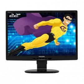 """Ecran PC Pro 22"""" PHILIPS 221S3L LED TFT VGA DVI VESA Widescreen 1920x1080 60Hz"""