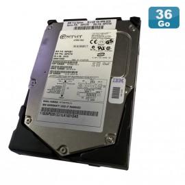"""Disque Dur 36.4Go USCSI Ultra SCSI 3.5"""" IBM Eserver 06P5351 FRU 06P5770 15000RPM"""