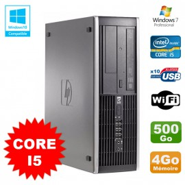 PC HP Compaq Elite 8100 SFF Intel Core i5 650 3.2GHz 4Go 500Go Graveur WIFI W7