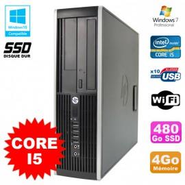 PC HP Compaq Elite 8100 SFF Intel Core i5 3.2GHz 4Go 480Go SSD Graveur WIFI W7