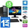 "PC Tour Lenovo M91p Ecran 27"" Core i5-2400 RAM 8Go Disque 500Go Windows 10 Wifi"