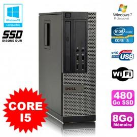 PC Dell Optiplex 7010 SFF Core I5 2400 3.1GHz 8Go Disque 480Go SSD Wifi W7