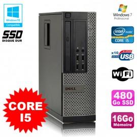 PC Dell Optiplex 7010 SFF Core I5 2400 3.1GHz 16Go Disque 480Go SSD Wifi W7