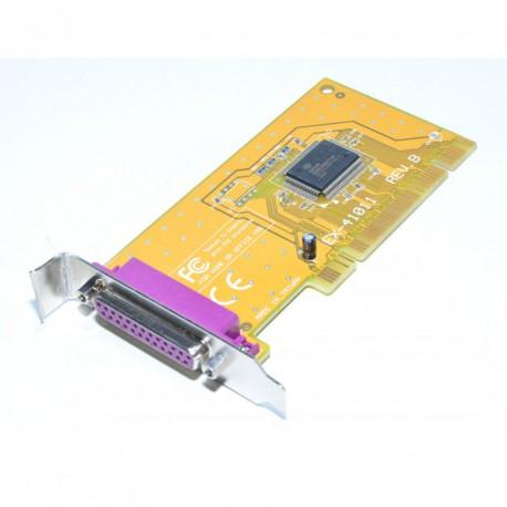 Carte Adaptateur PCI Port DB25 Parallèle EX-41011 EXSYS 2Mo IEEE1284 Low Profile
