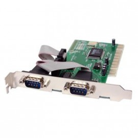 Carte PCI Multi I/O 2 ports séries MOSCHIP FG-PIO9835-2S NM9735 REV C 2xRS-232