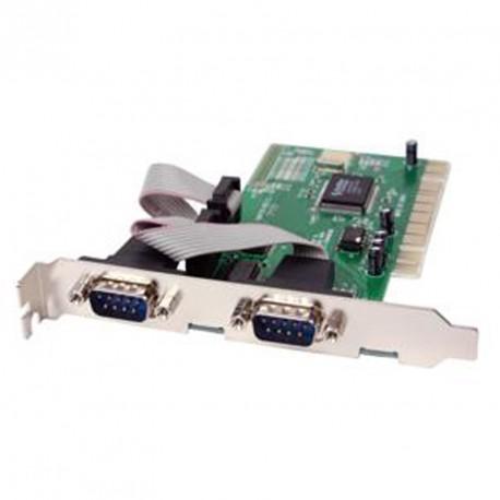 Carte PCI Multi I/O 2 ports séries MOSCHIP FG-PIO9835-2S NM9735 REV C 2xRS-232
