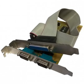 Carte PCI 2 Ports RS-232 Série DB9 1 Port Parallèle EPP-EPC Sunix 4079A3V PC