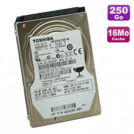 """Disque Dur PC Portable 250Go SATA 2.5"""" Toshiba MK2561GSYN 7200RPM 16Mo"""