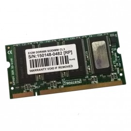512Mo RAM PC Portable SODIMM Transcend TS64MSD64V4M DDR1 PC-3200S 400MHz CL3