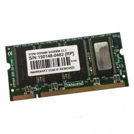 512Mo RAM PC Portable SODIMM Transcend TS64MSD64V4M DDR1 PC-3200S 400MHz CL3