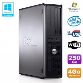 PC DELL Optiplex 780 DT Intel E7500 2.93Ghz 4Go Disque 250Go WIFI Win 7 Pro