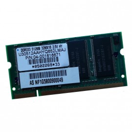 512Mo RAM PC Portable SODIMM U30512AAHYQ652LMAJ SDRAM DDR1 PC-2700S 333MHz CL2.5
