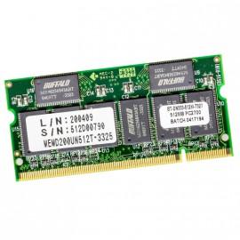 512Mo RAM PC Portable SODIMM Buffalo BT-DN333-512M-T327 DDR1 PC-2700S 333MHz