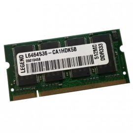 512Mo RAM PC Portable SODIMM LEGEND L6464S36-CA1HDK5B DDR1 PC-2700S 333MHz