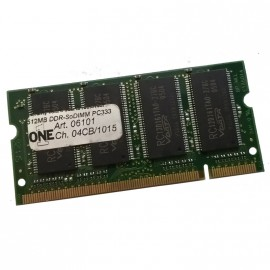 512Mo RAM PC Portable One Technologies 04CB/1015 SODIMM DDR1 PC2-2700S 333MHz