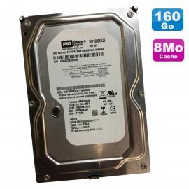 """Disque Dur 160Go SATA 3.5"""" Western Digital AV WD1600AVJS-63N9A0 7200RPM 8Mo"""