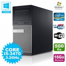 PC Tour Dell Optiplex 790 Intel I5-3470 3.2Ghz 16Go 500Go DVD WIFI Win 7