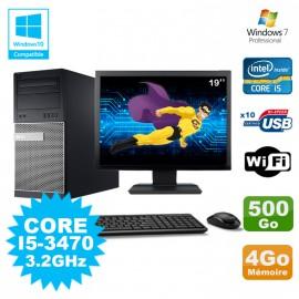 """Lot PC Tour Dell 790 Intel I5-3470 3.2Ghz 4Go 500Go DVD WIFI Win 7 + Ecran 19"""""""