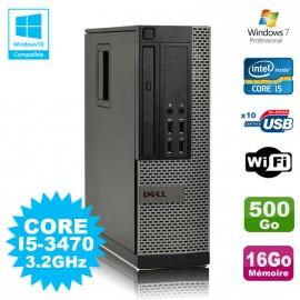 PC DELL Optiplex 790 SFF Core I5-3470 3.2Ghz 16Go Disque 500Go WIFI W7 Pro