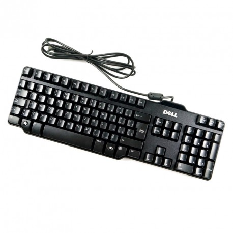 Clavier Azerty Noir USB Dell L100 DJ329 SK-8115 RT7D50 PC Keyboard 104 Touches
