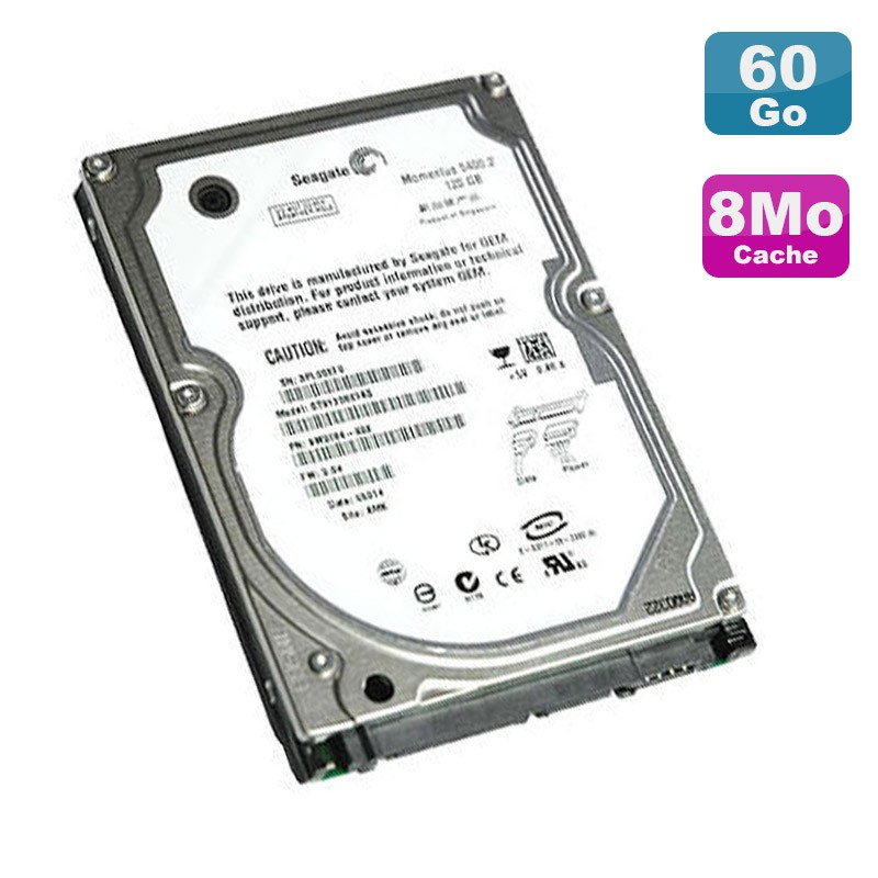 disque dur pc portable 60go ide 2 5 seagate momentus st96812a 5400rpm 8mo monsieurcyberman. Black Bedroom Furniture Sets. Home Design Ideas