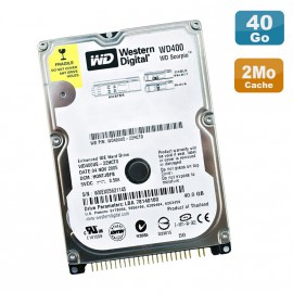 "Disque Dur PC Portable 40Go IDE 2.5"" Western Digital WD400UE-22HCT0 5400RPM 2Mo"