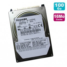 """Disque Dur PC Portable 100Go IDE 2.5"""" Toshiba MK1032GAX 5400RPM 16Mo"""