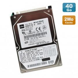 """Disque Dur PC Portable 40Go IDE 2.5"""" Toshiba MK4018GAS 4200RPM 2Mo"""