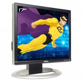"Ecran Plat PC 17"" DELL 1703FPt LCD TFT 1280x1024 VGA DVI Hub 4x USB Noir Argenté"
