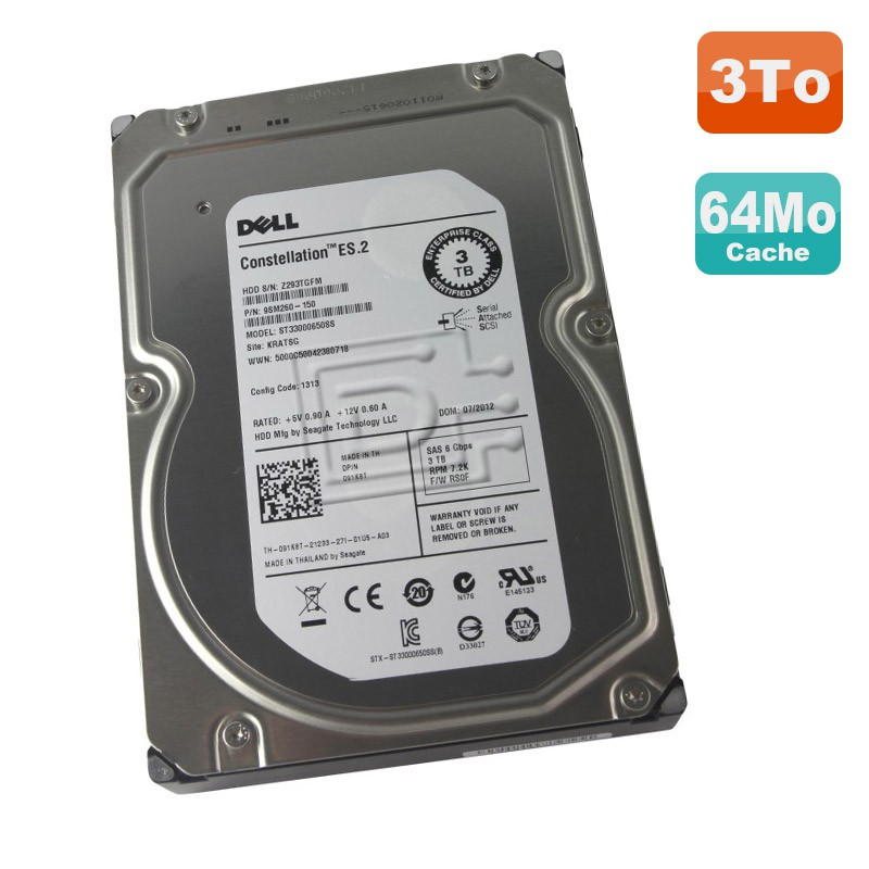 disque dur 3to sas 3 5 seagate constellation es 2 st33000650ss 7200rpm 64mo monsieurcyberman. Black Bedroom Furniture Sets. Home Design Ideas
