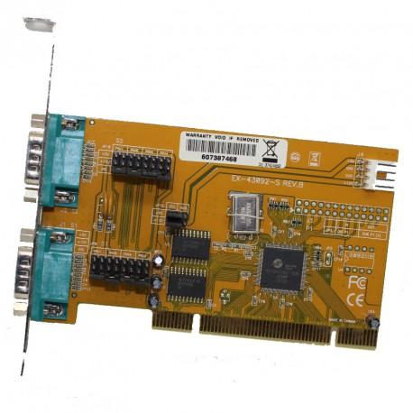 Carte PCI 2 Ports RS-232 Série DB9 Fujitsu Celsius Esprimo EX-43092-S REV.B PC