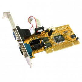 Carte PCI 2 Ports RS-232 Série DB9 EXSYS Moschip EX-41052 Rev.D PC