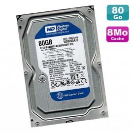 """Disque Dur 80Go SATA 3.5"""" Western Digital Caviar Blue WD800AAJS-00M0A0 7200RPM 8Mo"""