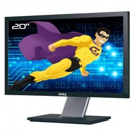 """Ecran PC 20"""" LCD DELL P2011Ht 0646PK LCD TFT TN DVI-D VGA 2x USB VESA 16:9 Wide"""