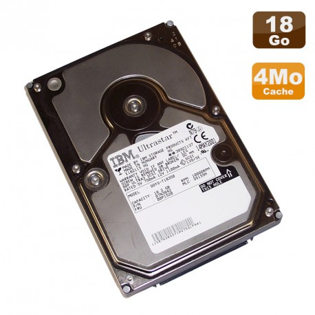 "Disque Dur 18.3Go Ultra160 SCSI 3.5"" IBM Ultrastar DDYS-T18350 10000 RPM 4Mo"