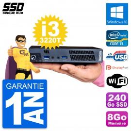 Ultra Mini PC Lenovo M92p Tiny Intel i3-3220T RAM 8Go SSD 240Go Windows 10 Wifi