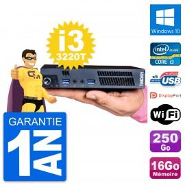 Ultra Mini PC Lenovo M92p Tiny i3-3220T RAM 16Go Disque 250Go Windows 10 Wifi