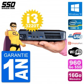 Ultra Mini PC Lenovo M92p Tiny Intel i3-3220T RAM 16Go SSD 960Go Windows 10 Wifi