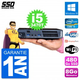 Ultra Mini PC Lenovo M92p Tiny Intel i5-3470T RAM 8Go SSD 480Go Windows 10 Wifi